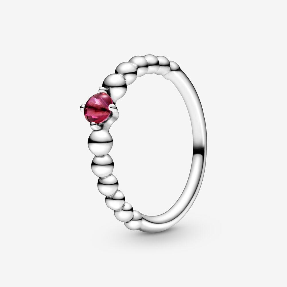 pandora anello con cuore rosso