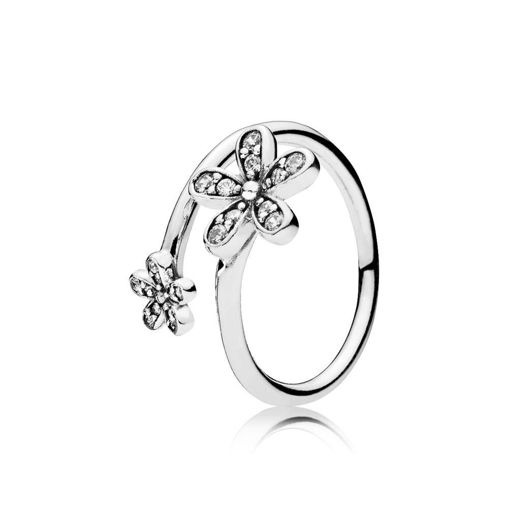anello pandora con i fiori