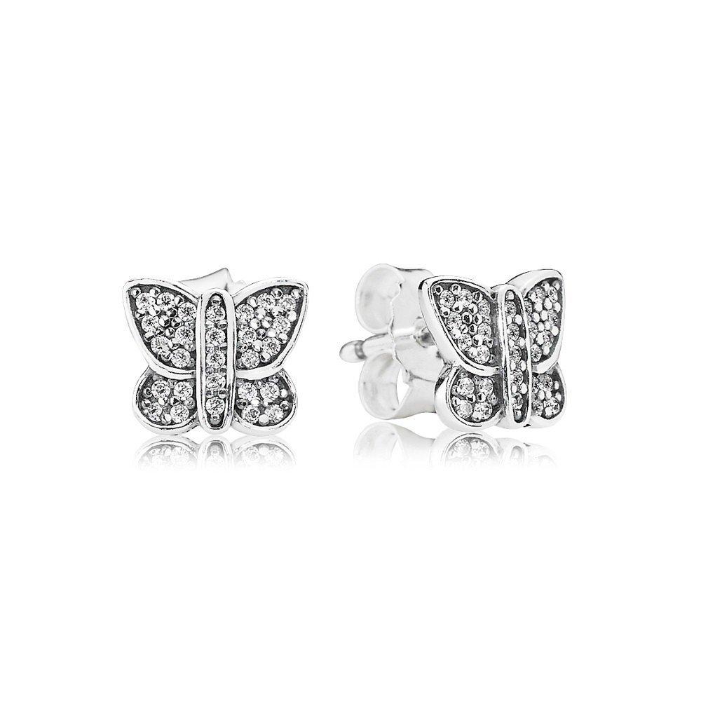 orecchini pandora a farfalla