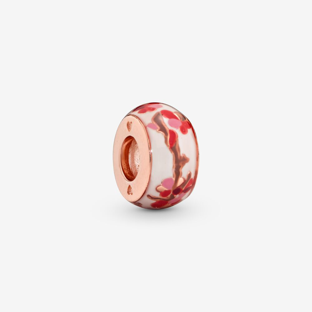 anello fiore orientale rosa pandora