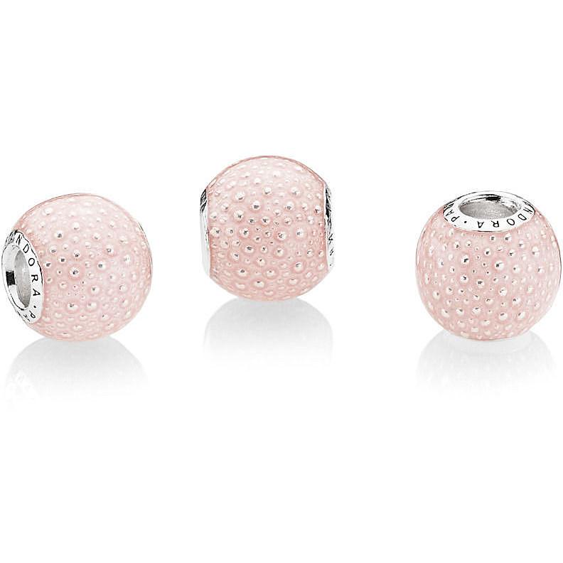 charm pandora sfera rosa