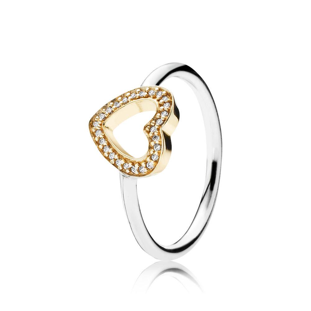 anello con il cuore pandora