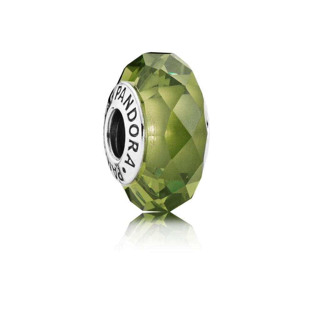 charm pandora murano verde