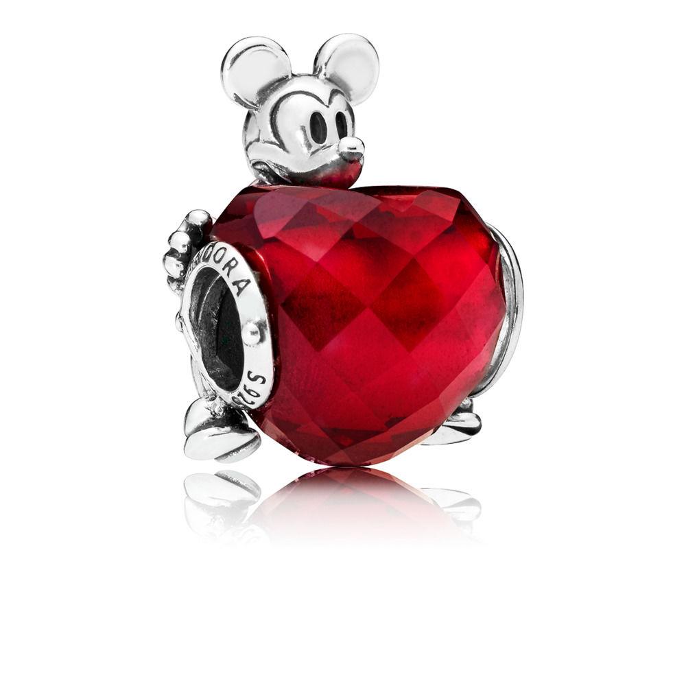 pandora charm cuore rosso
