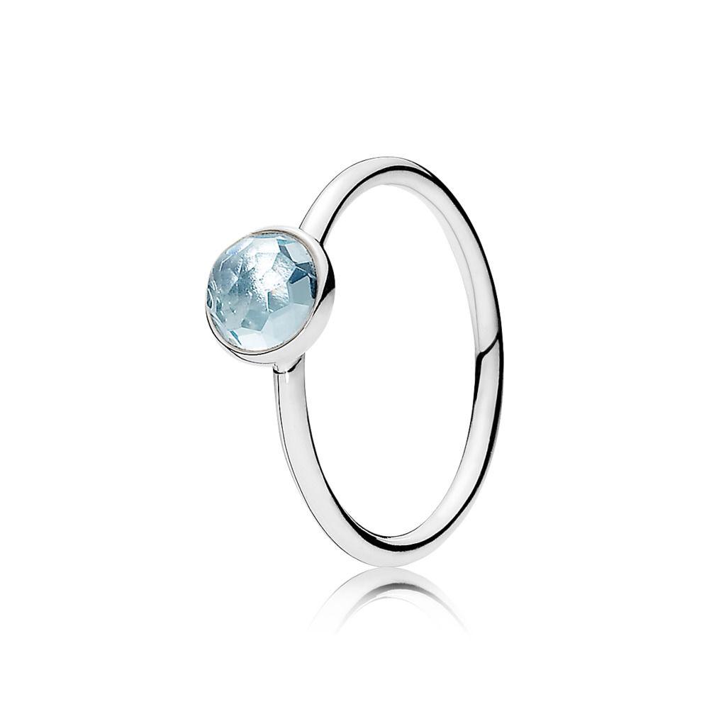 anello pandora azzurro