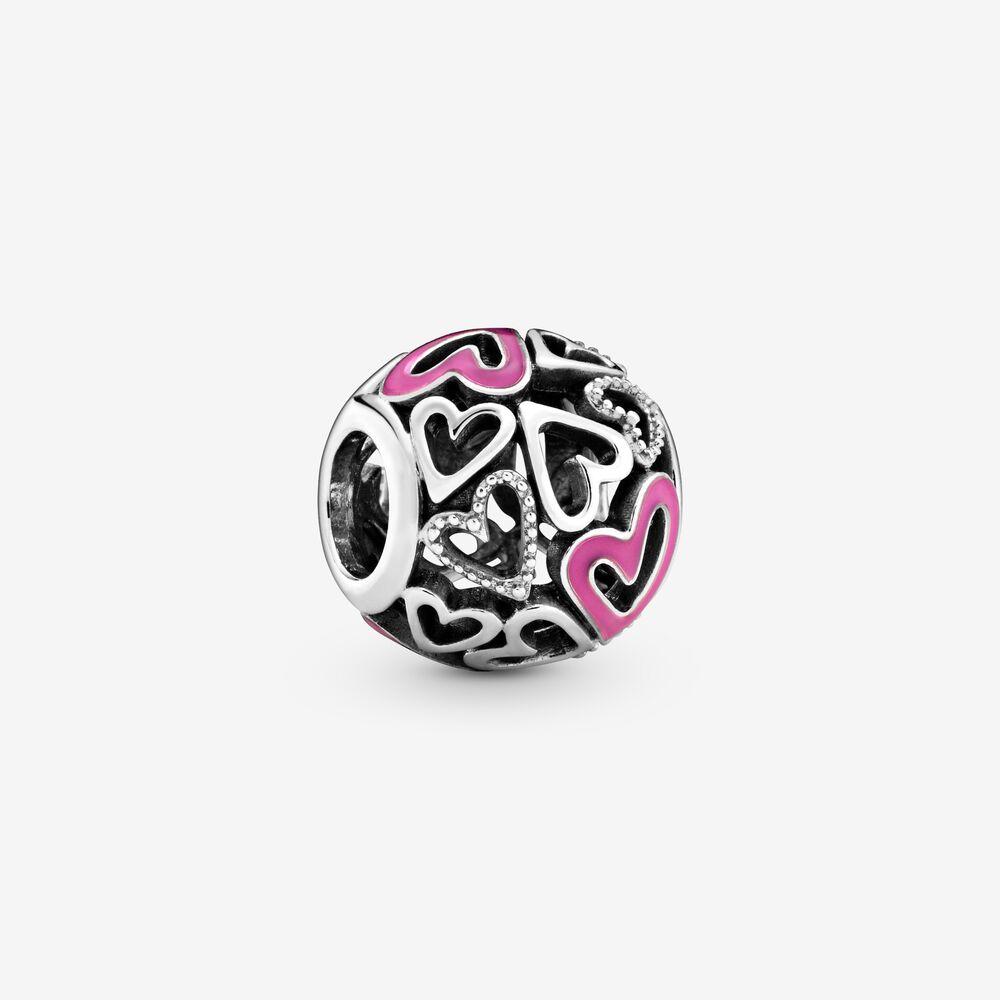 charm pandora cuori rosa