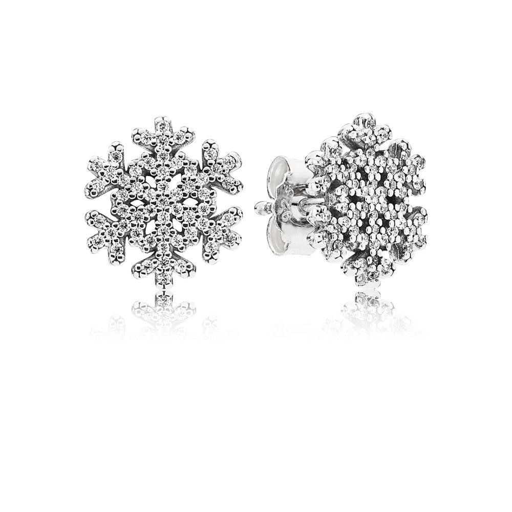 pandora orecchini donna fiocco di neve