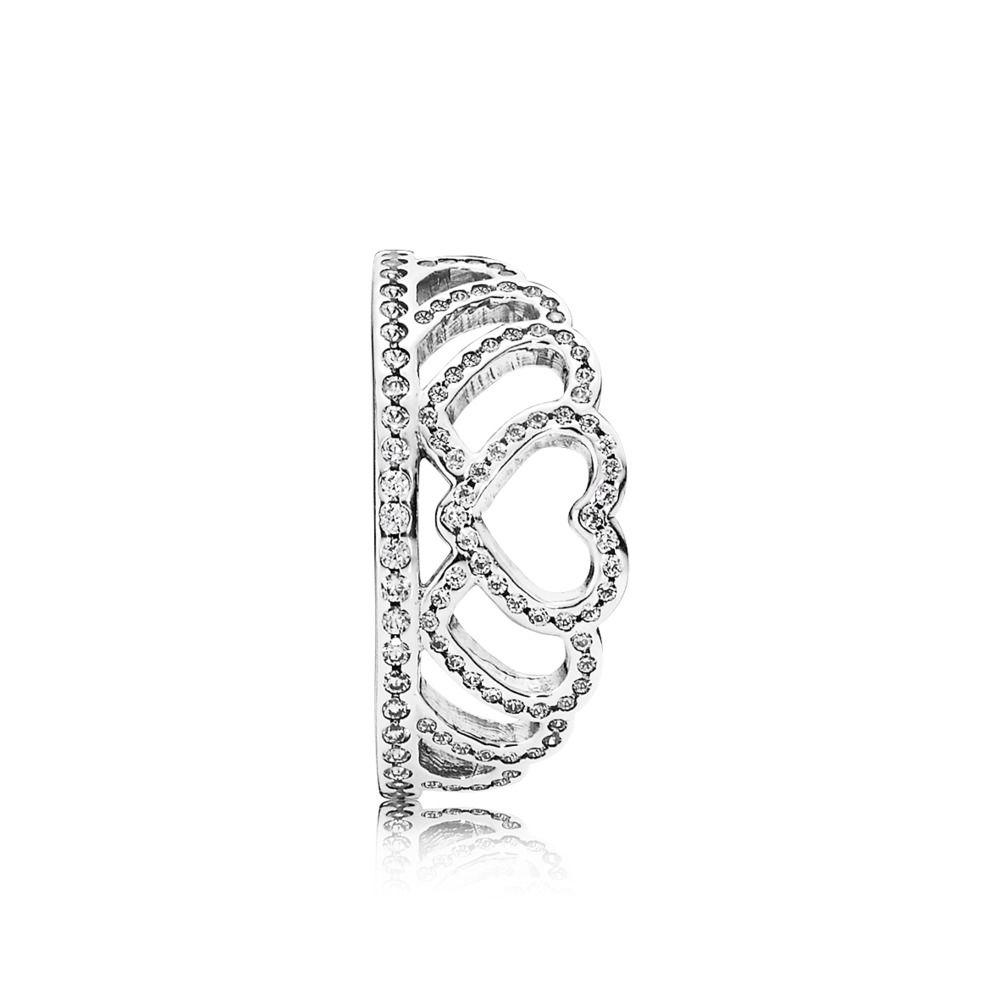 anello tiara pandora oro rosa